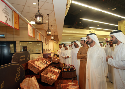 H.H. Sheikh Mohammed visited aswaaq